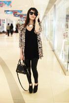 leopard print vintage coat - mustard Versace for H&M bracelet