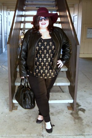 black pure energy jeans - black Mossimo jacket - black Forever 21 t-shirt
