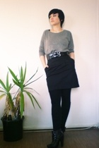 aa shirt - H&M skirt