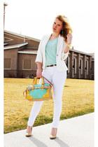aquamarine bowler melie bianco bag - white Forever 21 blazer