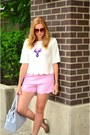 Light-blue-bow-material-girl-bag-bubble-gum-feminine-front-row-shop-shorts