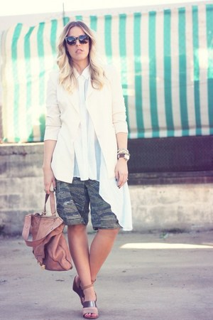 Lovers &amp; Friends blazer - Kooba bag - vintage shorts - Karen Walker sunglasses