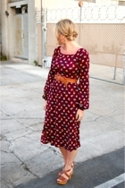 vintage dress - Steve Maddene Madden shoes
