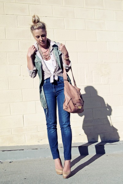 Urban Outfitters jeans - Kooba bag - banana republic vest - Aldo pumps