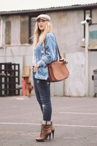 timex watch - Jessica Simpson boots - QSW jeans - coach bag - vintage blouse