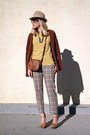 Mustard-crossroads-find-sweater-camel-vintage-pants