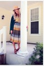 Lime-green-thrifted-shirt-light-blue-thrifted-skirt-green-thrifted-vintage-c