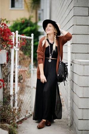 black Joelle Hawkens bag - black OtteNY hat - black Bebe top
