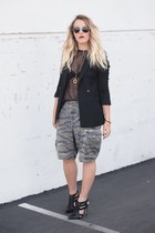 black Crossroads Find blazer - army green Lost &amp; Found Vintage shorts