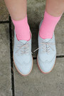 Light Blue Leather THE WHITEPEPPER Shoes