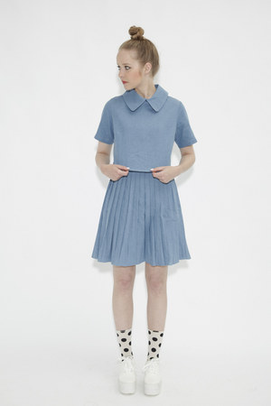 crop denim THE WHITEPEPPER shirt - THE WHITEPEPPER skirt