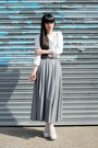 Silver-long-skirt-the-whitepepper-skirt