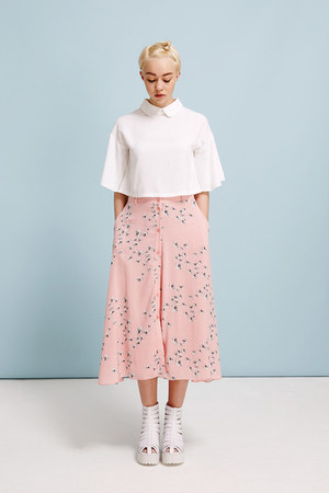 THE WHITEPEPPER skirt - THE WHITEPEPPER boots - THE WHITEPEPPER top