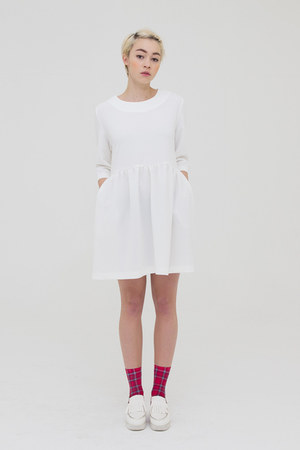 ivory THE WHITEPEPPER dress - white THE WHITEPEPPER flats