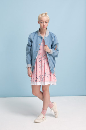 THE WHITEPEPPER jacket - - STYLISTS OWN shoes - THE WHITEPEPPER dress