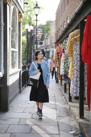 blue THE WHITEPEPPER jacket - black THE WHITEPEPPER dress