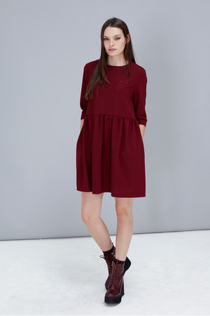 wedge boots THE WHITEPEPPER boots - smock dress THE WHITEPEPPER dress