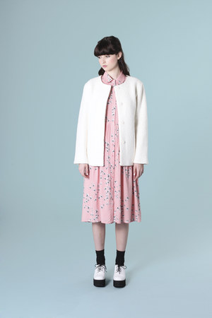 ivory THE WHITEPEPPER jacket - pink THE WHITEPEPPER dress