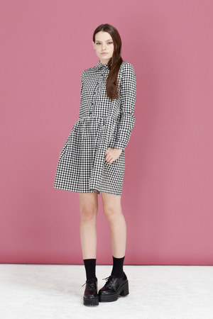 THE WHITEPEPPER shoes - shirt dress THE WHITEPEPPER dress