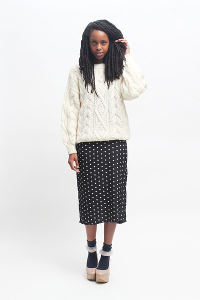 THE WHITEPEPPER jumper - THE WHITEPEPPER dress - THE WHITEPEPPER wedges