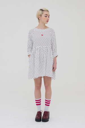 ivory THE WHITEPEPPER dress - brick red THE WHITEPEPPER heels
