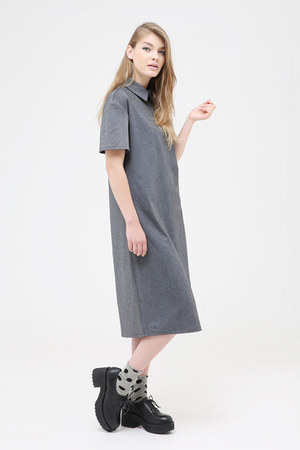 black THE WHITEPEPPER shoes - charcoal gray THE WHITEPEPPER dress