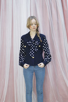 Navy-vintage-the-whitepepper-blouse