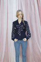 Navy-vintage-the-whitepepper-blouse