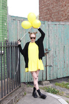 Flounce Dress Yellow