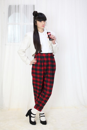 red vintage pants THE WHITEPEPPER pants