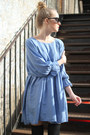 Sky Blue Boxy Dress THE WHITEPEPPER Dresses