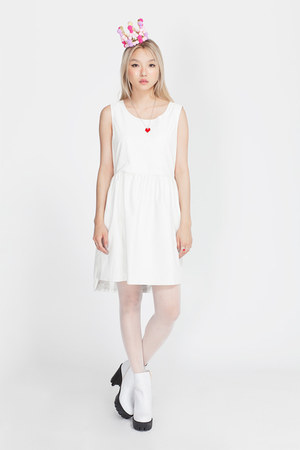 white THE WHITEPEPPER boots - white THE WHITEPEPPER dress