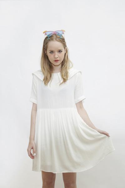 white THE WHITEPEPPER dress