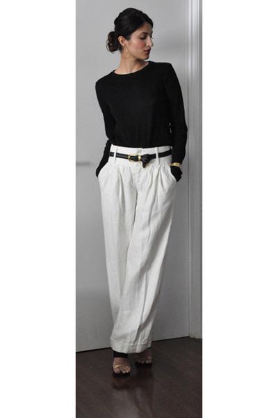 Black proenza schouler shirts white club monaco pants for White shirt black pants