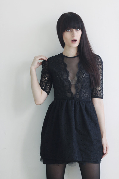 black lace Jones and Jones dress