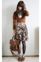 brown Primark bag - brown Topshop shoes - everything else vintage