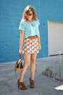 Aquamarine-thrifted-shirt-tawny-with-birdies-thrifted-skirt
