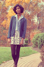 Brown-dsw-boots-black-h-m-tights-navy-thrifted-cardigan