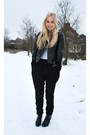 Black-harem-pants-white-h-m-t-shirt-black-h-m-boots-mango-jacket
