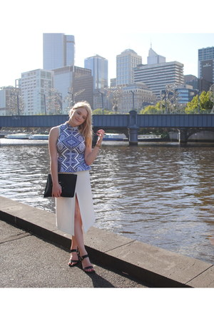 asos skirt - Givenchy bag - Maurie and Eve top - sam edelman sandals