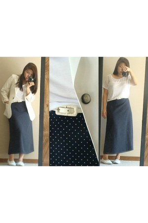 thrifted skirt - thrifted vintage blazer