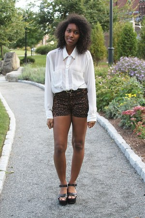 brown jordie leopard Motel shorts - bronze American Apparel jacket