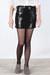 black black sequin skirt