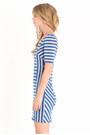 Blue Striped Dresses