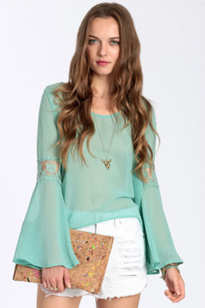aquamarine top