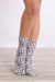 gray leopard print socks