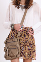 light brown cross-body bag