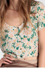 Daisy Crop Top Lucca Couture Tops