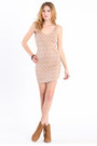 Light Pink Chevron Dresses
