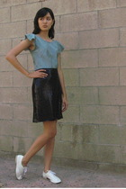 H&M blouse - vintage skirt